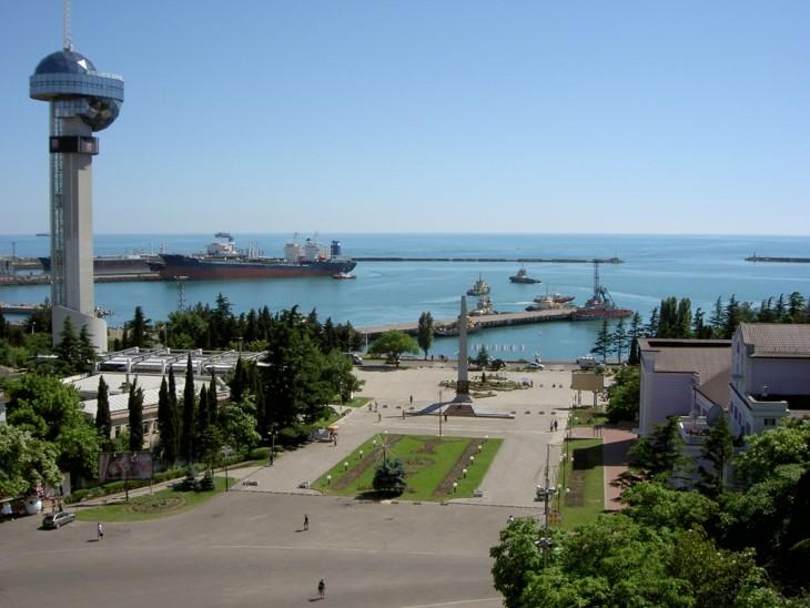 Панорама города Туапсе фото